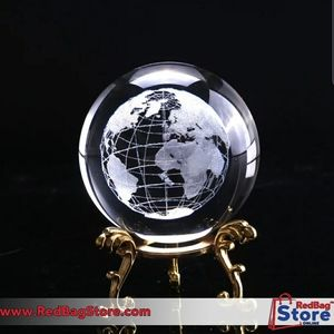 6cm 3D Crystal Ball Glass Laser Engraved M…